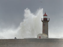 Huge stormy wave Stock Images