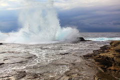 Huge Stormy Weather Ocean Splash Stock Photography