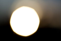A huge sun against the black sky Stock Photo