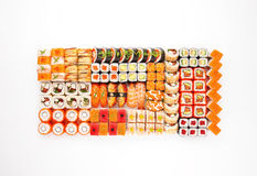 Huge sushi roll set - sushi maki california roll Stock Image