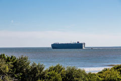 Huge Tanker Close to Shore Royalty Free Stock Photo