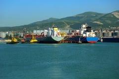 Huge tanker in port Royalty Free Stock Images