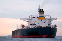 Huge tanker ship Stock Image