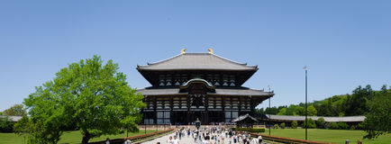 Huge temple in NARA Japan. Big black historical temple in the oldest capital of japan stock image