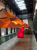 A huge textile installation at Tate Modern, London Royalty Free Stock Images