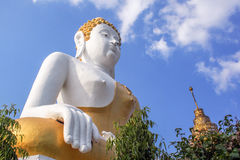 Huge Thai Buddha statue white and gold Stock Photography
