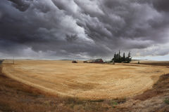 Huge thundercloud on  Montana Stock Photo
