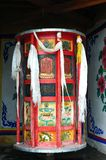 Huge Tibetan prayer wheel Royalty Free Stock Photo