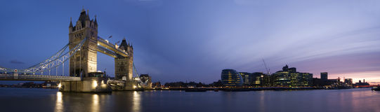HUGE-Tower Bridge and City of London stock image