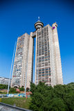 Huge tower building in Belgrade stock images