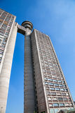 Huge tower building in Belgrade stock photos