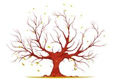 Huge Tree Illustration Stock Image