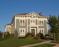Huge Two Story New Historical Styled Home royalty free stock photos