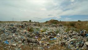 Huge Unauthorized Midden At Landfill In Ukraine stock video