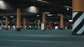 Huge underground parking. stock footage