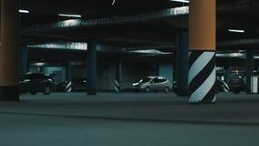 Huge underground parking. stock video footage
