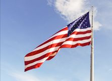 Large scale USA flag Stock Photo