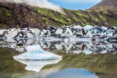 Huge Vatnajokull glacier and lake, Iceland Stock Image