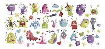 Free Huge Vector Clip Art Monster Collection. Royalty Free Stock Images - 163498079
