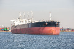 Huge vessel  ship in Port of los angeles harbor at San Pedro Stock Photo