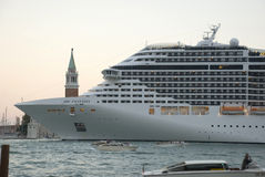 Huge vessel in venice, italy Stock Images