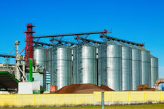 Huge warehouse facilities for agricultural sector Royalty Free Stock Images