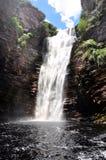 Huge Waterfall in Bahia Brazil. Waterfall Canyon in Chapada Diamantina in Bahia, Brazil Royalty Free Stock Photo