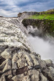 Huge waterfall Dettifoss in Iceland Stock Photo