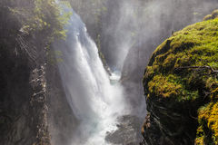 Huge Waterfall in  South Tyrol Stock Images