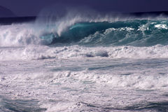 Huge Wave. A huge waves crashes at Pipeline, HI Stock Photography