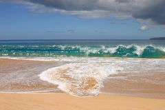 Huge waves at Big beach in Maui Stock Photography