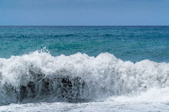 Huge waves of stormy sea Royalty Free Stock Photography