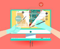 Huge website creation Stock Image