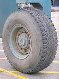Huge Wheel. Wheel on a towing truck for boats and planes etc Royalty Free Stock Images