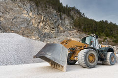 Huge wheel mounted front loader Royalty Free Stock Images