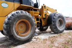 Huge wheels of loader Royalty Free Stock Images