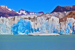 The huge white-blue glacier Stock Photos