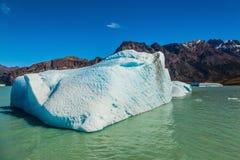 The huge white-blue iceberg drifts Stock Images