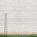 Huge white brick wall Stock Images