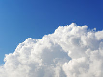 Huge white cloud in the blue sky Royalty Free Stock Image