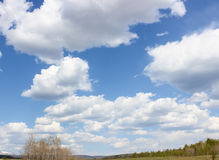 Huge white clouds Royalty Free Stock Photography