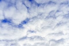 Huge white, fluffy clouds against the blue sky. Huge white, fluffy clouds against the blue sky Royalty Free Stock Image