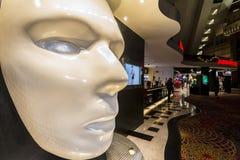 Huge white mask Stock Photos
