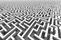 Huge white maze structure Stock Images