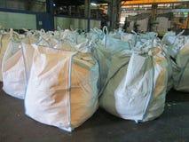 Huge white sacks Royalty Free Stock Photography