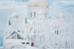 Belogorsky Monastery of St. Nicholas. Stock Image
