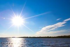 Coastal Volga river, Astrakhan, Russia. stock images