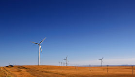 Huge wind power windmill Stock Images