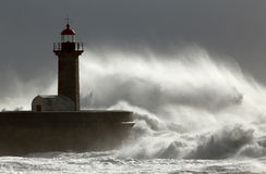 Huge windy wave Stock Images