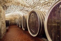 Huge wine barrels Stock Images